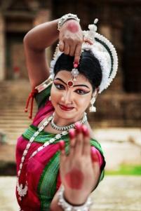 Odissi dancer striking a pose