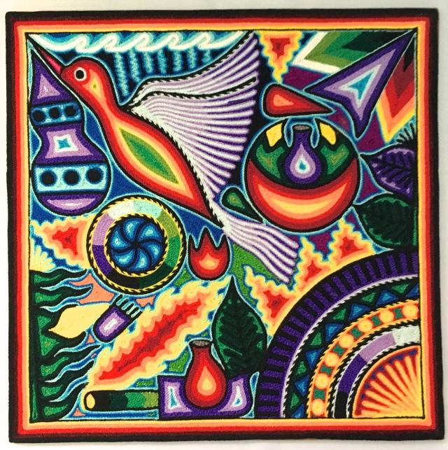 Huichal Peyote Bird Ceremony Art